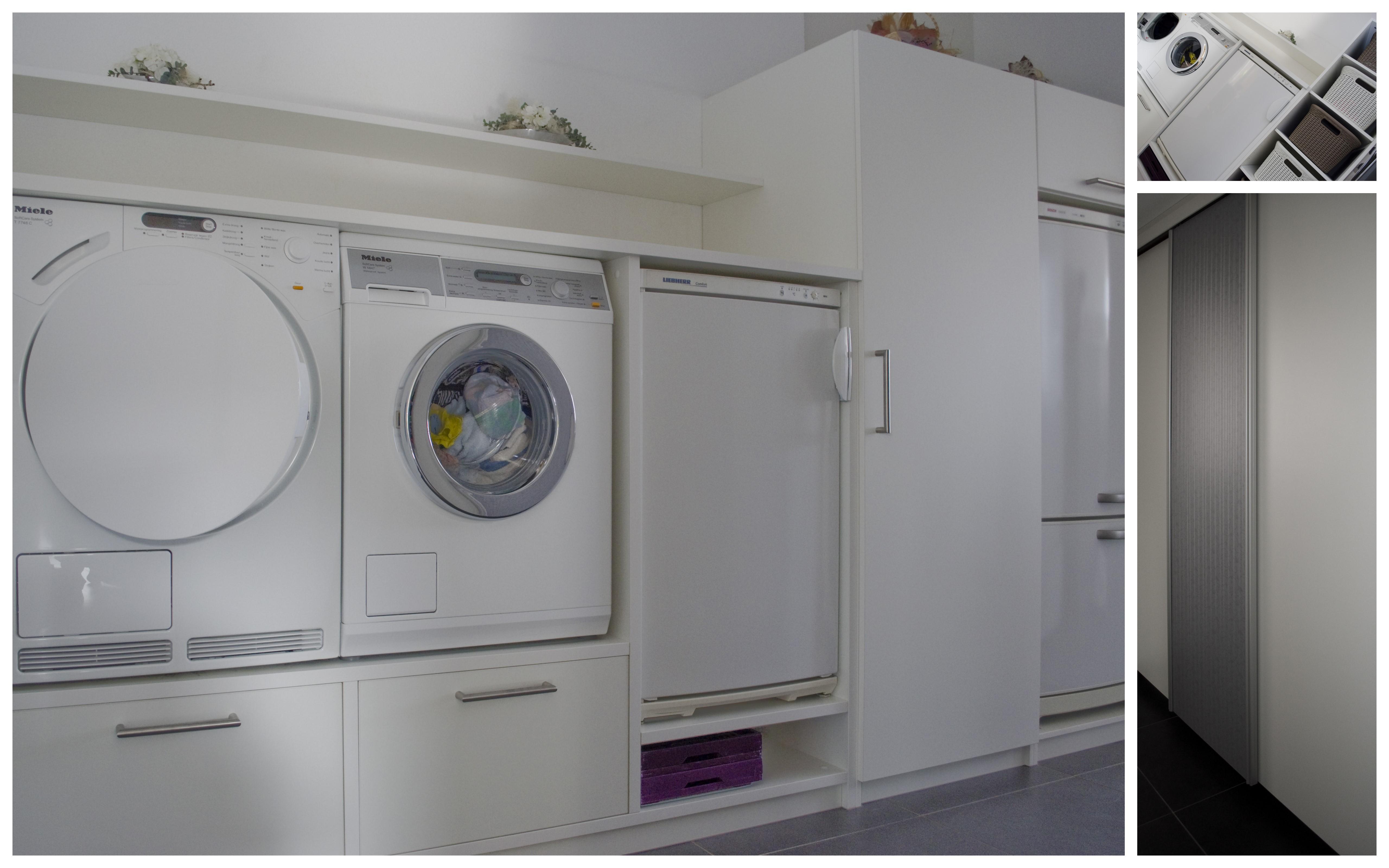 Kast Voor Wasmachine En Droger Op Elkaar De Wasmachine En